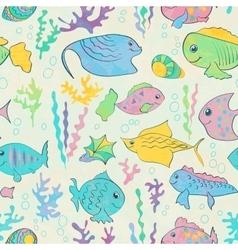 Cartoon sea fish vector