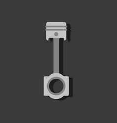 flat icon design car piston in sticker style vector image vector image