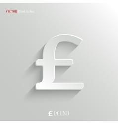 Pound icon - white app button vector image