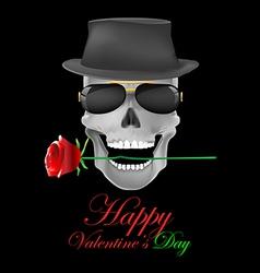 skull roses vector image