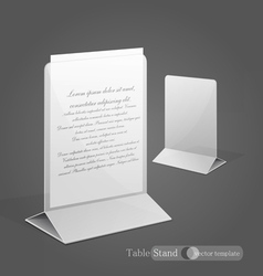 stand for advertising paper vector image vector image