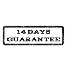 14 days guarantee watermark stamp vector