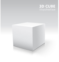 3d cube for your graphic design vector image