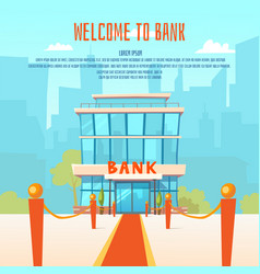 a modern bank vector image
