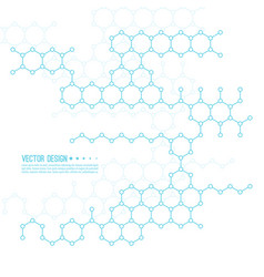 abstract background of molecular structure vector image