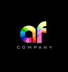 af a f alphabet letter mosaic design vector image