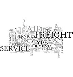 Air freight services text word cloud concept vector