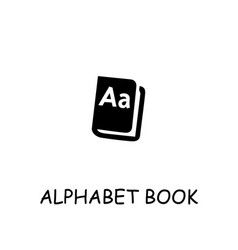 Alphabet book flat icon vector