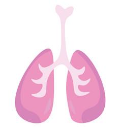 an internal respiratory organ or color vector image