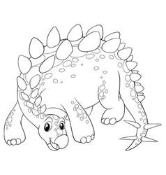 Animal outline for cute dinosaur vector