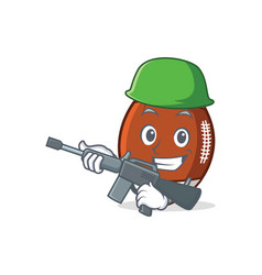 Army american football character cartoon vector
