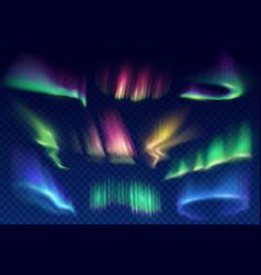 aurora borealis polar lights realistic set vector image