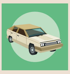 Auto garage car design vector