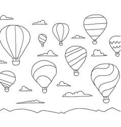 balloon hot air aeronautics unpowered aerostat in vector image
