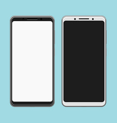 Black and white less frames smartphones template vector