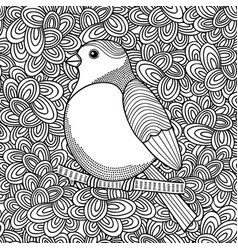 Black and white of bird for coloring vector