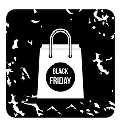 Black friday off icon grunge style vector