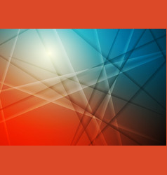 Bright orange and blue abstract stripes background vector