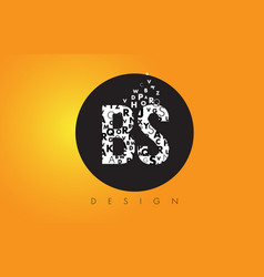 Bs b s logo made of small letters with black vector