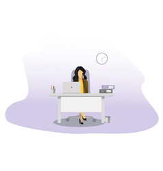 business woman talking on the phone office concept vector image
