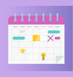 calendar or organizer business affairs and events vector image