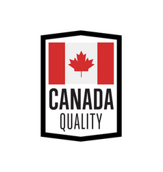 canada quality isolated label for products vector image