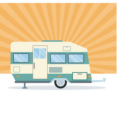 caravan trailer vehicle vector image