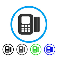 card processor rounded icon vector image