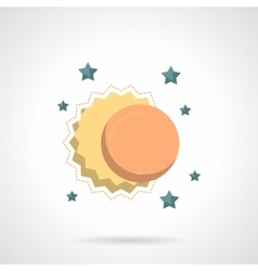 Celestial bodies flat color design icon vector image