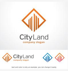 city land logo template design vector image