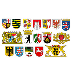 coat arms german states heraldic icons vector image