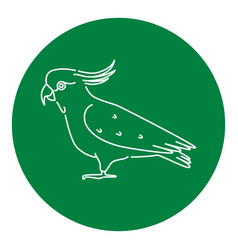 cockatoo parrot icon in thin line style vector image