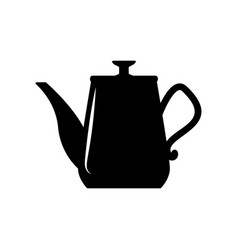 coffee kettle isolated on white design element vector image