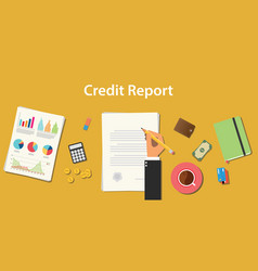 credit report business with business man signing vector image
