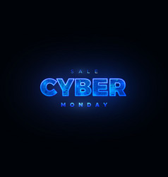 cyber monday promotional online sale event vector image