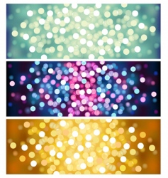 defocused lights vector image