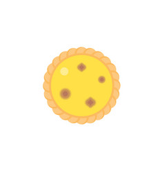 dim sum dessert egg tart in top view vector image