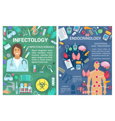 Endocrinology infectology medicine doctor vector