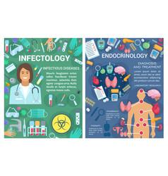 endocrinology infectology medicine doctor vector image