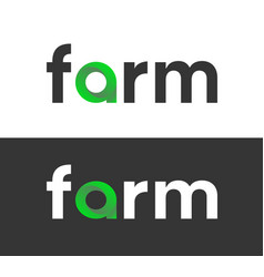 farm label for food or eco products in market vector image