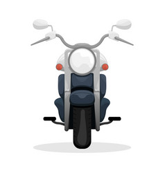 Fashionable black motorcycle travelling at speed vector