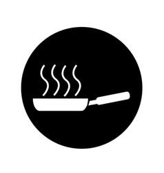 Frying pan icon design vector