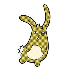 Funny comic cartoon rabbit vector