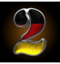 Germany metal figure 2 vector