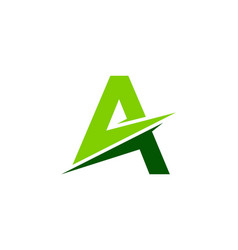 green letter a logo icon design vector image