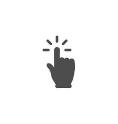 hand click button simple design vector image