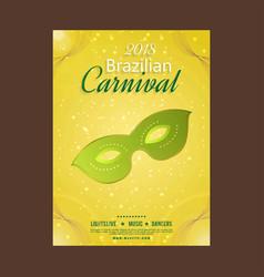 Happy brazilian carnival day yellow carnival vector