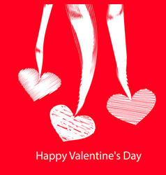 Happy valentines day postcard vector
