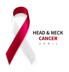 Head and neck cancer awareness month realistic vector