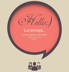 Hello Speech Bubble with Business Icon vector image